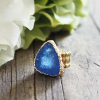 Druzy Sky Ring, Sweet Country Inspired Jewelry