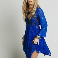 Free People Womens All You Need Dress - Cobalt