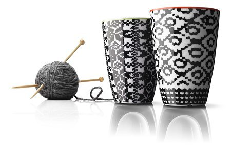 Nordic Wool Thermo Cup Set of Two Red and Lime