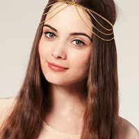 ASOS | ASOS Draping Chains Crown Head Band at ASOS