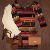 Olive June Aztec Dress