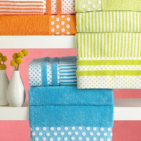 Bianca Dots & Stripes Towel Collection - Bath - Bed & Bath - Macy's