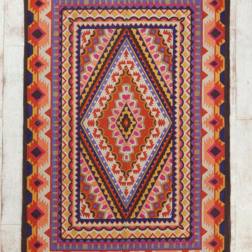 Magical Thinking Diamond Medallion Handmade Rug- Multi 4X6