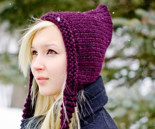 Knitting Pixie Hat Free Pattern : Knitting Pattern - Knit Hat Knitting from pixiebell on Etsy