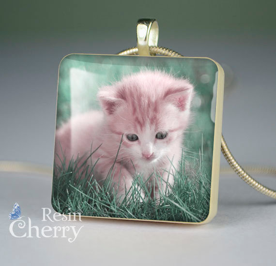 cat scrabble tile pendant,cat photo pendants,cat necklace pendants,cat jewelry pendant- A0376SP