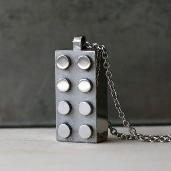 Handmade Gifts | Independent Design | Vintage Goods Steel Retro Block Necklace  - Jewelry - Girls