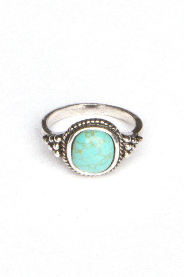 silver turquoise ring from melville rings