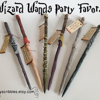 6 Pack of Wizard Wand Favors Plus Digital Book