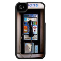 Funny Public Pay Phone iPhone 4 Case from Zazzle.com
