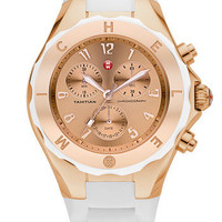 MICHELE &#x27;Tahitian Jelly Bean&#x27; 40mm Rose Gold Watch | Nordstrom