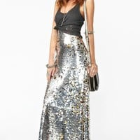 Gina Sequin Maxi Skirt