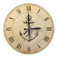 Anchor Round Clocks from Zazzle.com