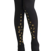 Celestial Be Friends Tights | Mod Retro Vintage Tights | ModCloth.com