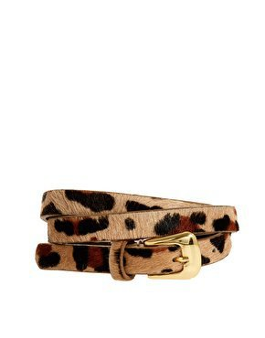 Warehouse Skinny Animal Print Belt at asos.com