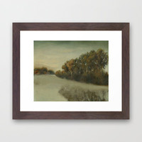 misty landscape Framed Art Print by karien deroo | Society6