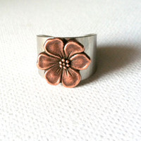 Copper Apple Blossom Ring
