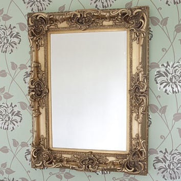 Carved Gold Mirror