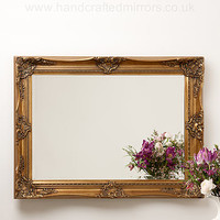 Ornate Hand Painted French Mirror