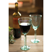 Seafoam Recycled Wine Glasses
