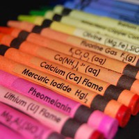 Chemistry Crayon Labels - set of 48