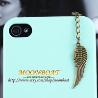 3.5mm Retro Brass Wing Dust For iphone 4s,iPhone 4,iPhone 3gs,iPod Touch 4,HTC,Nokai,Samsung,Sony MB686