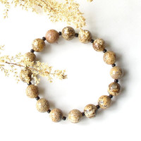 Stone stretch bracelet - natural desert colors