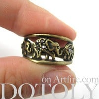 Elephant Animal Ring in Bronze - Sizes 6 to 8 Available