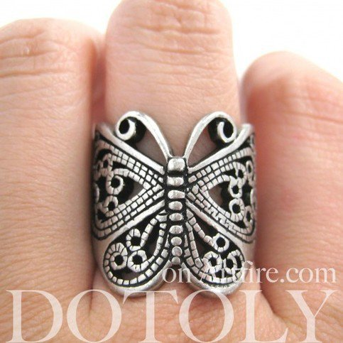Dotoly | Butterfly Wrap Ring with Cut Out Details - Sizes 5 to 7 Available | Online Store Powered by Storenvy