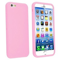 INSTEN Slim Fit Silicone Gel Soft Case for Apple iPhone 6 - Retail Packaging - Light Pink