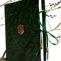 MJB5-Dark Green  Mini-Journal Book