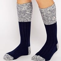 Jack Wills Knee Sock at asos.com