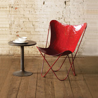 Iron Sling Chair in Red