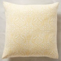 Bungalow Pillow by John Robshaw Yellow 20 In. Square Pillows