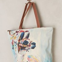 Adorned Llama Tote by Miss Albright Sky One Size Bags