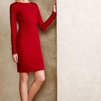 Elisabeth Ruched Dress by Velvet by Graham and Spencer Wine