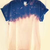 Medium Bleach dip dye black T-shirt
