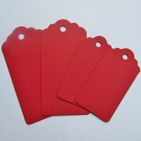 Pack Of Ten Red Tag Gift Labels