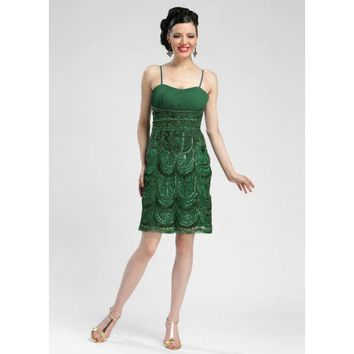 Sue Wong Emerald Forest Princess Dress - N3365
