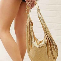 Whiting & Davis Classic Hobo Bag- Gold One