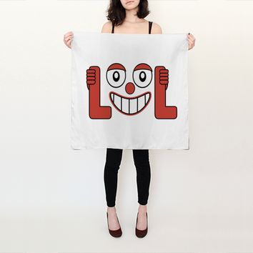 Laughing Out Loud Illustration Scarf by DFLC Prints (Square Scarf (26