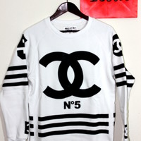 COCO Hockey Sweatshirt White with Side Zippers