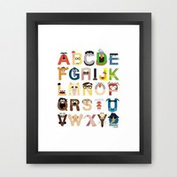 Muppet Alphabet Framed Art Print by Mike Boon | Society6