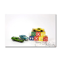 Racing Toy Car Childrens Playroom Boys Bedroom Home Decor Wall Art Hot Rods Muscle Cars