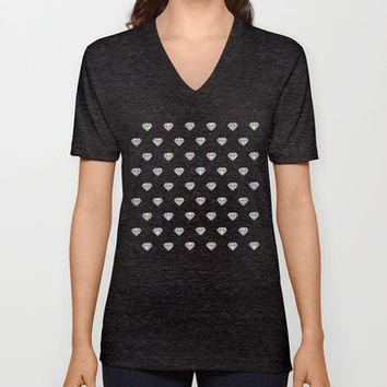 Diamonds In The Sky V-neck T-shirt by All Is One