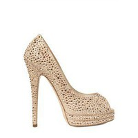 CASADEI - 130MM SWAROVSKI OPEN TOE PUMPS - Polyvore