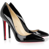 Christian Louboutin Pigalle 120 patent-leather pumps - Polyvore