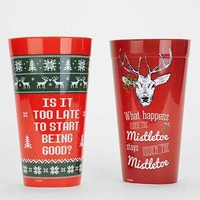 Plastic Pint Glass Set- Multi One