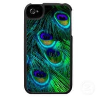 PixDezines Psychedelic Peacock Iphone 4 Covers from Zazzle