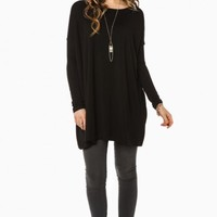 COZY TUNIC IN BLACK BY PIKO