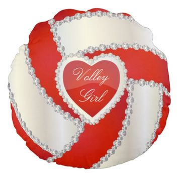 Elegant Diamond Heart Deep Red Volley Ball